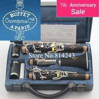 Buffet de copie de haute qualité Crampon Cie une clarinette bakélite 1986 B12 17 Instruments de musique avec accessoires de boîtier