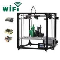 2019 el más nuevo Flsun 3d impresora de gran área de impresión 260*260*350mm pantalla táctil Dual extrusora de marco de Metal 3D kit de impresora de cama caliente