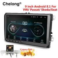 9 pulgadas Android 8,1 doble 2Din radio GPS de coche de radio 2 Din USB para Volkswagen/Passat GOLF/ /Skoda/asiento Wifi bluetooth 2din