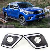 Luces De Circulación Diurna LED DRL luz antiniebla Kit para Toyota Hilux Revo Pickup 2015-Up
