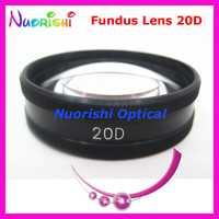 20D aussi bon que l'objectif volk! Ophtalmique asphérique Fundus Retina fente lampe lentille de Contact en cuir noir boîtier en métal emballé livraison gratuite
