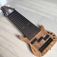 Personalizada de fábrica 17 cuerdas de Bajo Eléctrico guitarra Rosewood diapasón no trastes incrustación de Oferta personalizada