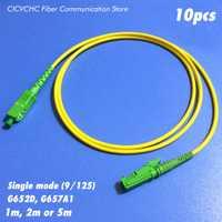 10 piezas LSH (E2000)/APC-SC/APC fibra Patchcord-SM (9/125) g652D o G657A1-1m 2 m o 5 M-3,0mm Cable/Cable de puente