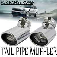 2 piezas acero inoxidable Oval Tip silenciador de escape Tail Pipe Consejo Range Rover Sport Diesel CSL2018