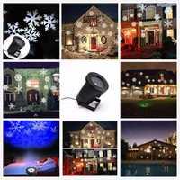 LED efecto copo luces al aire libre de Navidad luz proyector jardín exterior Navidad árbol de decoración de iluminación de paisaje