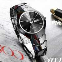 Relojes de pulsera de cuarzo para Hombre, reloj de acero de tungsteno, marca de lujo, reloj para Hombre, cristal de zafiro negro, para Hombre