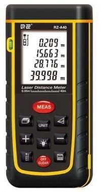 RZ A40 portátil Medidor láser de distancia de 0,05 a 40 m con nivel de burbuja de medición de alta precisión