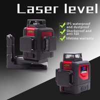 Nuevo LETER 3D nivel láser 360 nivel verde lase línea láser rojo