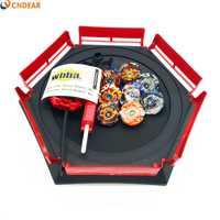 Spin top explosión juguetes con lanzador de arranque y Arena de juguete Metal fusión Dios Spinning Top 1 hoja juguetes Arena002