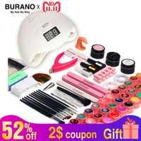 Kit de uñas seco 48 w lámpara UV LED y de Gel UV polaco Base superior abrigo de herramienta de la manicura 36 colores esmalte de uñas para uñas conjuntos