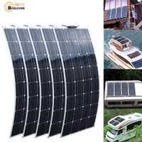 2 pièces 4 pièces 10 pièces 100 W panneau solaire monocristallin cellule solaire Flexible pour voiture/Yacht/bateau à vapeur 12 V 24 volts 100 Watt batterie solaire