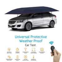 KEMiMOTO cubierta de coche completamente automática portátil con Control remoto sombrilla de coche cubierta de techo exterior Kits de protección UV