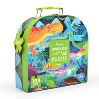 104 piezas niños dinosaurio puzle ciencia rompecabezas Animal de dibujos animados juguete niños educación temprana juguete caja de regalo