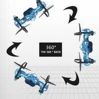 Alto rendimiento Sky Fighter juguetes aviones de combate batalla Drone 2,4 GHz 4 Canal 6 eje Gyro RC Quadcopter velocidad tanque ajustable