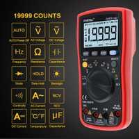 ANENG AN870 Auto de la gama de precisión Digital multímetro de verdadero valor eficaz (RMS 19999 cuenta NCV ohmímetro AC/tensión DC amperímetro Transistor Tester