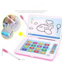Multifunción máquina de aprendizaje educativa inglés temprano Tablet ordenador juguete chico