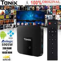 Tanix TX3 Mini 4 K TV Box (Android 7,1 S905W Quad Core CPU -Mali 450 GPU 2G/16G 2,4 GHz WiFi 100 Mbps h.256 4 K 3D HDMI 2,0)
