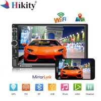 Hikity 8802 Universal 2din Radio de coche Android GPS Bluetooth Autoradio estéreo Mirrorlink Multimedia MP5 jugador cámara de visión trasera