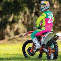2019 printemps Motocross Jersey ensemble rose Dirt Bike Gear set Top qualité MX Jersey et pantalon