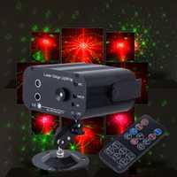RGB DJ láser proyector Luz de efecto de iluminación de escenario para la discoteca Club fiesta de Navidad vacaciones Mostrar luces con 3 lente 48 los patrones