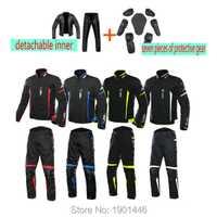 MC moto rcycle moto cross traje de protección impermeable moto deportes pantalones + chaqueta forro extraíble moto rbike Jaqueta
