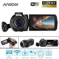 Andoer 64 GB 4 K 1080 P 24MP WIFI videocámara grabadora Digital con batería recargable regalo de Navidad