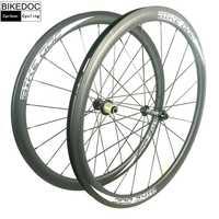 BIKEDOC ruedas de carbono 38mm 45mm 50mm 60mm 88mm ruedas de bicicleta de 700C de carbono bicicleta de carretera ruedas Clincher