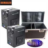 2 unids/lote con FlightCase 400 w frío chispa fuegos artificiales máquina de fuente de Dmx Control remoto y Control para la boda y efecto de etapa
