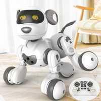 Inteligente control remoto robot perro cantando y bailando rompecabezas educativos juguete de recarga USB hablando jugando con el niño