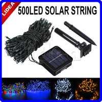 50 M 500 LED con energía Solar al aire libre para boda, Navidad, hadas, lámparas solares, decoración de jardín, Garland, LED, Christmas HK C-31