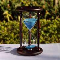 Madera moderna 60 minutos arena reloj de arena gabinetes de vino sala de estar y estudio regalo de San Valentín decoración del hogar ampulheta