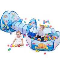 Juguetes túnel tienda océano serie Juego de dibujos animados Big Space Ball Pits piscina portátil plegable niños deportes al aire libre juguete educativo
