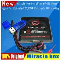 Envío gratuito Original milagro caja + milagro clave con cables (V2.48 caliente actualización) para china teléfonos móviles desbloquear + reparación desbloquear