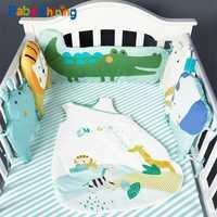 Bebé brillante recién nacido cama de bebé parachoques INS todo el tamaño de algodón cuna 1,8 m parachoques niños cama de bebé cuna de bebé decoración de la habitación de bebé cama