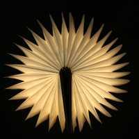 Libro en forma de madera plegable luz recargable Nightlight USB recargable LED plegable lámpara libro creativo regalo de la manera lámpara de mesa