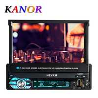 KANOR 1 din lecteur dvd de voiture navigation gps cd mp3 mp5 usb sd Bluetooth 1DIN Télescopique structure écran Voiture lecteur multimédia