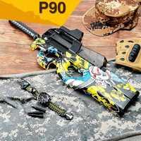 P90 Graffiti Édition jouet électrique PISTOLET balle en eau Éclate Pistolet CS Live D'assaut Snipe Arme En Plein Air Pistolet Jouets