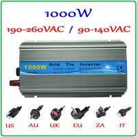 1000 W MPPT inversor de la rejilla 10,5-28VDC a AC 190-260 V o 90-140 V onda sinusoidal pura solar de salida de energía eólica en inversor de red