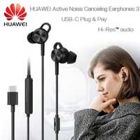 HUAWEI eliminación activa del ruido-auriculares 3 Original USB tipo C ANC 3 CM-Q3 Hi-Res música de calidad Mate 10 20 RS P20 Pro Honor V 10