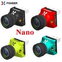 Foxeer depredador 4 Nano Super WDR 4ms baja latencia 1000TVL FPV Racing Cámara OSD 4:3 16:9 NTSC amigo para RC Drone
