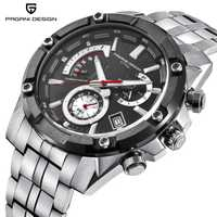 Reloj de marca de lujo para Hombre, Reloj PAGANI, Reloj de cuarzo con cronógrafo de acero inoxidable, Reloj militar impermeable para Hombre