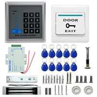 Sistema de Control de Acceso de la puerta funda ABS lector RFID teclado Control remoto 10 tarjetas de identificación cerradura cerrojo eléctrico
