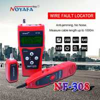 Testeur de câble de surveillance réseau LCD NF-308 localisateur de défaut de fil réseau LAN Coacial BNC USB RJ45 RJ11 couleur rouge NF_308