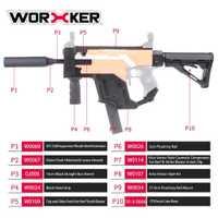 Cubierta de la daga del trabajador versión actualizada Kit modificado Kit de imitación del Vector de CRISS especial para Nerf Stryfe modificar juguete