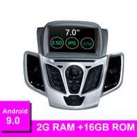 Reproductor de DVD de coche Android 9,0 para FORD Fiesta 2008-2017 navegación GPS 2 Din Radio de coche Multimedia WIFI ESTÉREO IPS Unidad de RDS