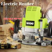Enrutador eléctrico recortador de madera de 1850 W máquina de ranura de madera fresadora eléctrica máquina de apertura multiuso M1R-KA7-12f