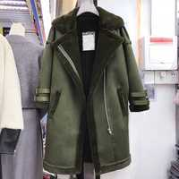 Estilo Europeo grueso terciopelo mujeres abrigos largo imagen Real diseñador marca mujeres abrigos Trench de piel cazadora abrigos A132
