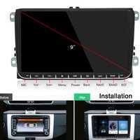 Coche reproductor Multimedia Radio Android 2Din para VW Volkswagen Passat reproductor de DVD de coche para Skoda Octavia Golf, tiguan Touran gps navi