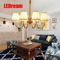 Todos cobre lámpara contratado sala de estar el dormitorio droplight lámpara