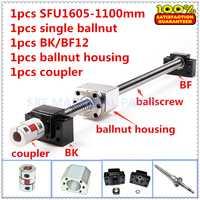 1605 ballscrew set: 1 piezas 1605 Ballscrew C7 L = 1100mm + 1605 solo ballnut + 1 Unidades BK/BF12 + 1 piezas 1605 carcasa de ballnut + 1 piezas acoplamiento